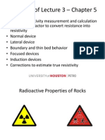 Radioactive Properties of Rocks