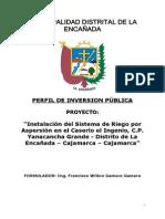 Perfil Riego El Ingenio Yanacancha Grande