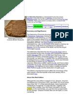 The Nabonidus Chronicle