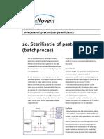 10. Sterilisatie of Pasteurisatie