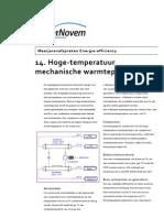 14. Hoge-Temperatuur Mechanische Warmtepomp