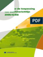 Gids Voor de Toepassing Van Machinerichtlijn 2006 42 EG
