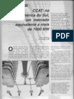 CCAT - Na America do Sul, um mercado equivalente a mais de 7000 MW