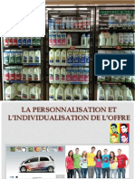La personnalisation et l'individualisation de l'offre