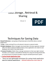 android Data Storage , Retrieval & Sharing