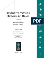 Textos Políticos da História do Brasil - Vol. 8 - Constitucionalismo - Antecedentes (1812-1822), Império (1823-1888). República - 1. Parte (1889-1935)