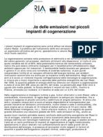 Il Trattamento Delle Emissioni Nei Piccoli Impianti Di Cogenerazione