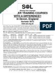 Teacher Course 2013