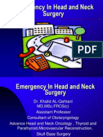 Emergency in Head and Neck