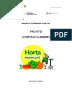 planificação do projeto «HORTA NO JARDIM»