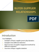 Buyer Supplier Relationships