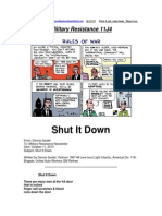 Military Resistance 11J4 Shut It Down