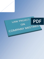 Law- Company meetings