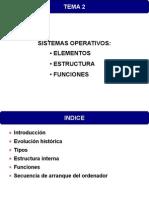 Sistemas Operativos - Elementos, Estructura y Funciones Generales