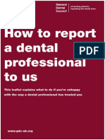 How to Report Dentist