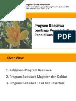 Materi Sosialisasi Beasiswa LPDP 2013
