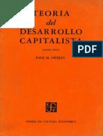 Paul Sweezy - Teoria Del Desarrollo Capitalista