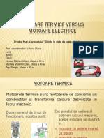 Motoare termice vs electirce