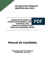 Edital 002_2013 - Manual do Candidato - Guarnição