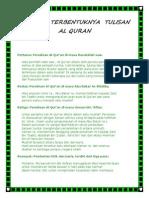 Sejarah Terbentuknya Tulisan Al Quran