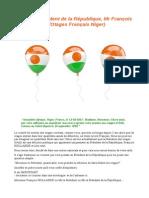 Lettre au Président de la République, Mr François HOLLANDE (Otages Français Niger)