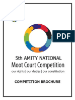 5th Amity National Moot Competition 2012 Brochure