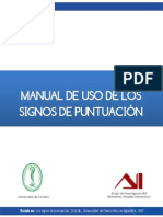 Manual de Uso de Los Signos de Puntuacion