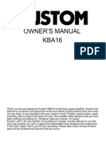 Kustom KBA16 Owner's Manual