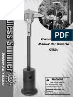 Endless Summer Outdoor Patio Heater Owner's Manual