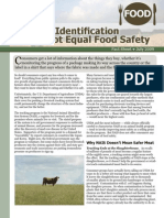 Animal Identification Does Not Equal Food Safety