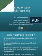 Test Automationbestpractiices