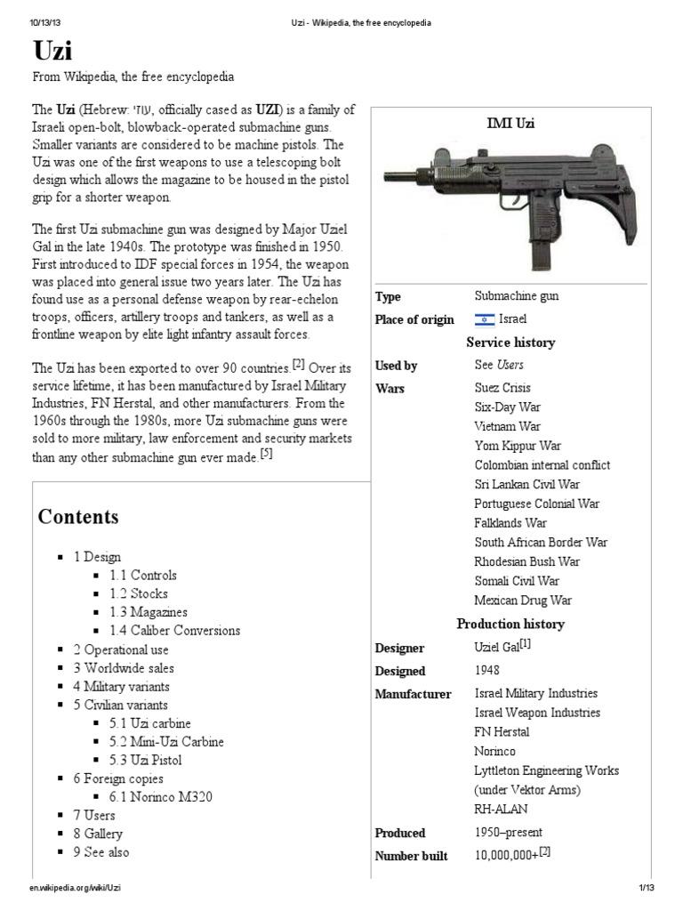 Uzi | Firearm Components | Projectiles