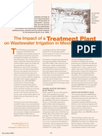 Treatment Plant Effects on Wastewater  Irrigation Benefits
