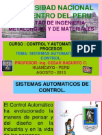 1a Clase Automatizacion 2013 II