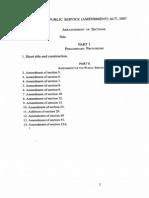 PUBLIC SERVICE (AMENDMENT) ACT, 2007
