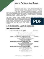 APDA Guide to Parliamentary Debate