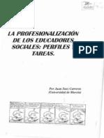 Juan s Ez La Profesionalizaci n de Los Educadores Sociales