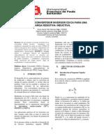 DISEÑO DEL CONVERTIDOR INVERSOR CD