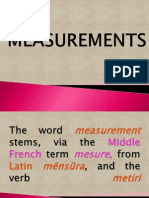 Powerpoint Measurements