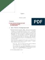 Sig Proc notes