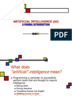 Formal Intro to AI
