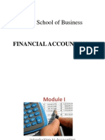 Accounting Fundamentals Module 1