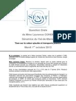 13.10.02 Compte Rendu laurence cohen sénatrice  Question Orale TVA Transports
