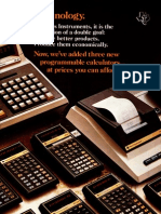 Texas Instruments SR Series 1976