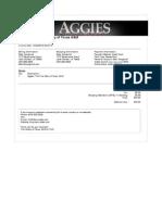 Aggies_ the True Story of Texas a&M - Receipt