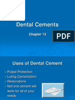 Dental Cements Chapter 13