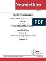 Philosophy and the Black Experience