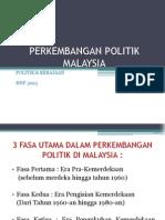 Perkembangan Politik Malaysia