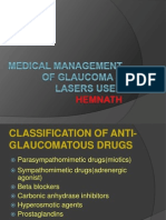 Medical Management of Glaucoma