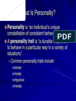 What is Personality